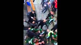 Maccabi Haifa - Lille friendly game fight at the entrance to the dressing rooms