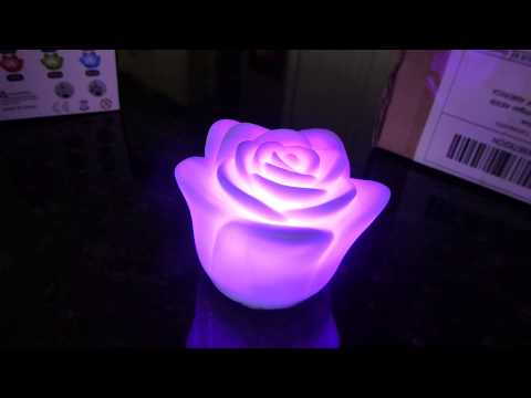DHGate Products Review - Rose LED Wishing LotusLight Roses Love Lamp