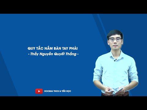 Quy tắc nắm bàn tay phải -  Vật lí 9  - Thầy Nguyễn Quyết Thắng -  HOCMAI