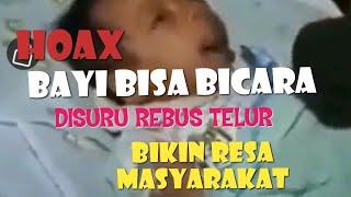 Gambar cover Viral Bayi Baru Lahir bisa Bicara video lengkap banyak versi ternyata HOAX