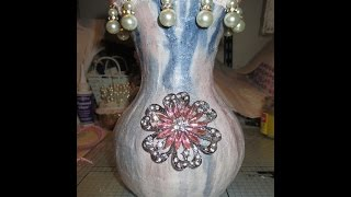 Crafty Mixed Media Altered Vase - jennings644