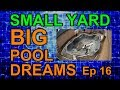 Deck Drainage Coping Prep Time Lapse Video Ep 16 Small Yard Big Pool Dreams
