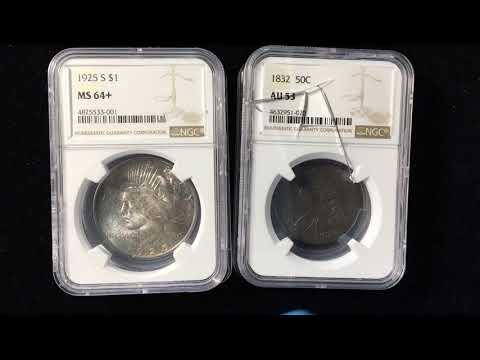 NGC To PCGS Crackout - 1832 Capped Bust Half Dollar & 1925-S Peace Dollar - Mind Boggling Results
