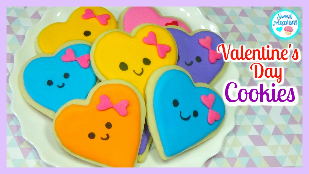 How To Decorate Valentine S Cookies Valentine S Day Cookies With