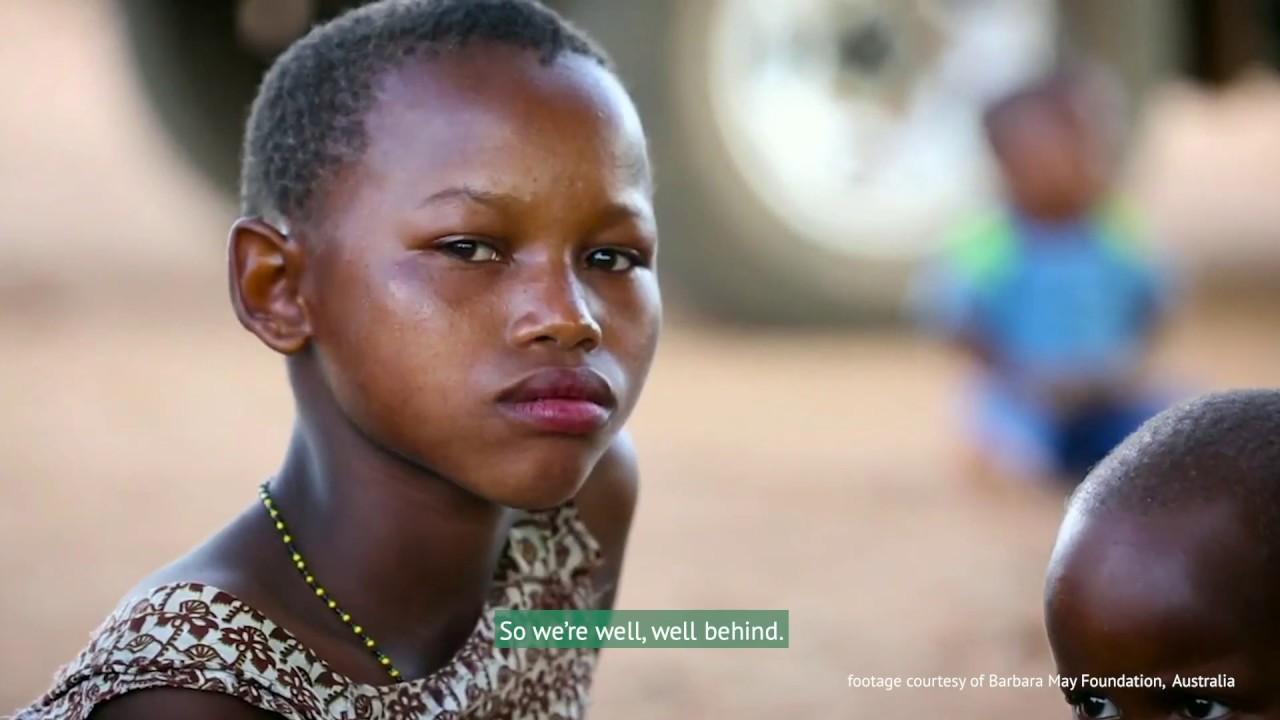 Afrikansk svart kön flicka