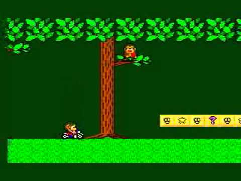 Alex Kidd In Miracle World Level 8 Forest With Sukopako Motorcycle