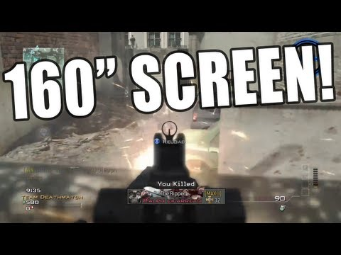 MW3 on 160 Inch Screen! - BenQ GP2 mini Projector Review!