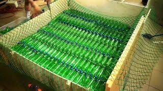 Как сделать плот из бутылок