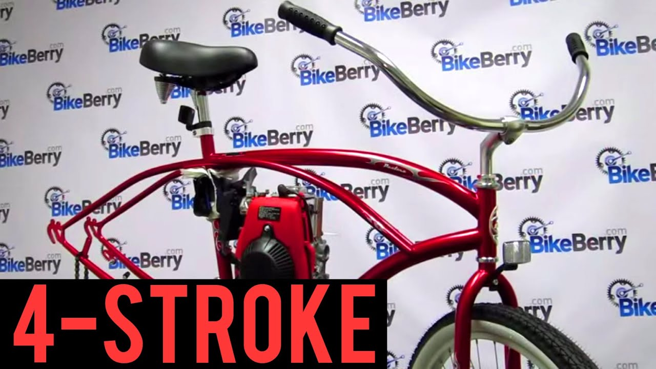 how to install a 4 stroke engine kit on your bicycle 48cc motorized bicycle [ 1280 x 720 Pixel ]
