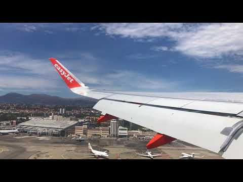 [TOUCH AND GO AROUND] EasyJet A320 in Nice Airport 06/08/2017