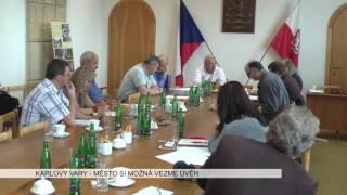 Karlovy Vary: Město si možná vezme úvěr na předfinancování projektů (TV Západ)
