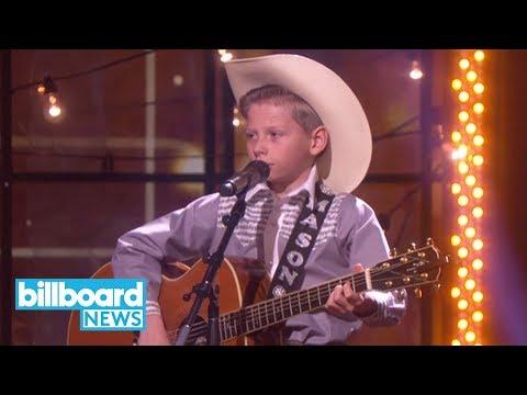 Walmart Yodeling Boy Mason Ramsey Brings His Viral Hank Williams Cover to 'Ellen' | Billboard News