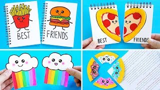 DIY BFF SCHOOL SUPPLIES for Back To School! Easy & Cute School Hacks