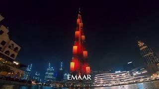 Burj Khalifa Eid LED Show