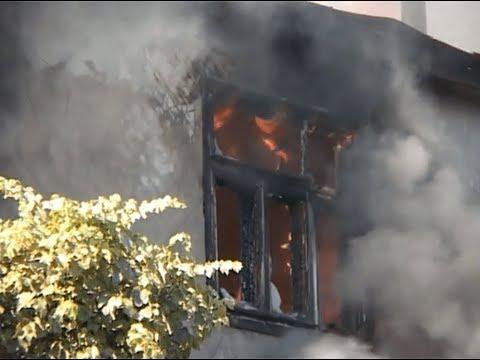 Пожар в частном доме в центре Воронежа