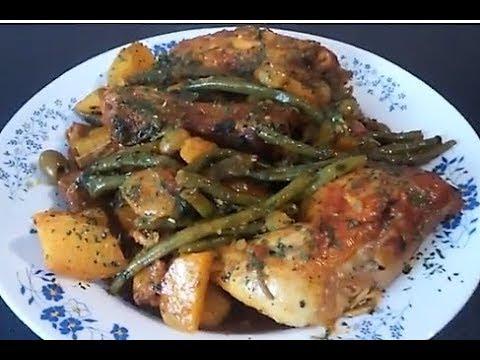 poulet-pomme-de-terre-haricots-verts😀👍