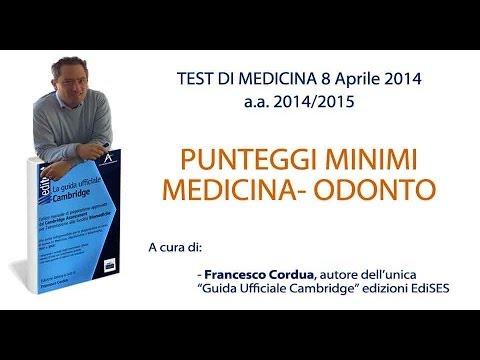 Punteggi Minimi Test Medicina A.A. 2014-15