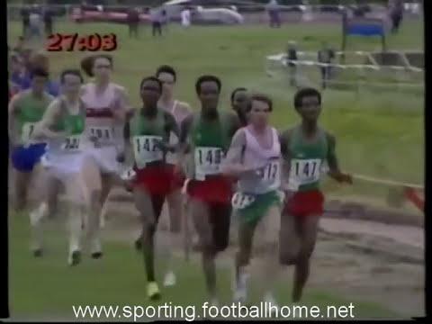 Atletismo :: Carlos Lopes campeão do Mundo de Corta Mato em 1985, Lisboa