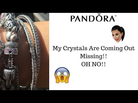 My problem with pandora right now!! crystals are falling out!! Missing