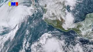 tormenta tropical Sergio toca tierra México y Estados Unidos
