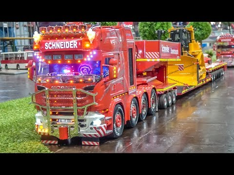 RC HEAVY LOAD TRUCKS! Mercedes and Scania POWER!
