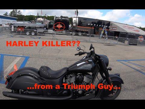 HONEST 2019 Indian Chief Dark Horse Review - HARLEY KILLER?