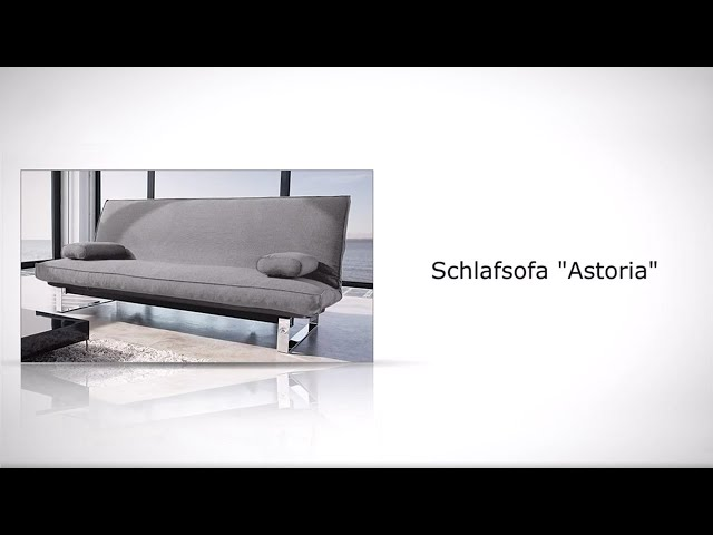 stoff schlafsofa in grau ausklappbar schlafcouch astoria. Black Bedroom Furniture Sets. Home Design Ideas