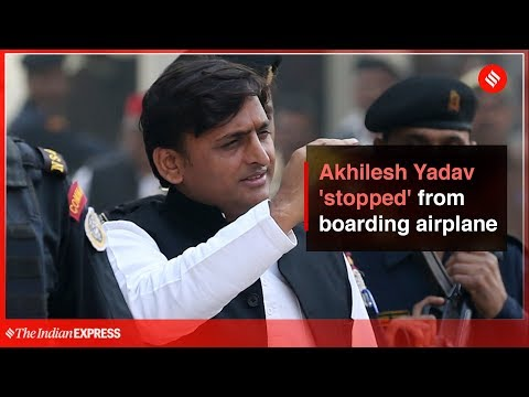 Uttar Pradesh | Akhilesh Yadav 'stopped' from boarding an airplane in UP
