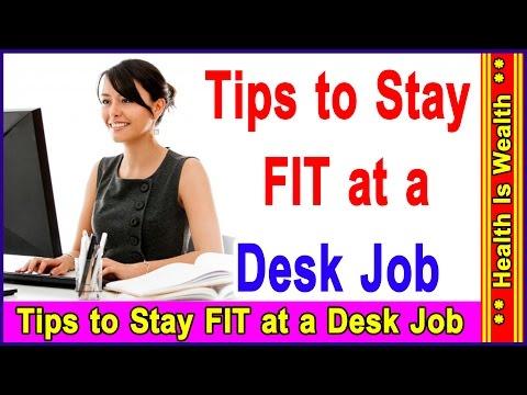 क्या करना चाहिए डेस्क जोप वाले लोगो को - Tips to Stay FIT at a Desk Job thumbnail