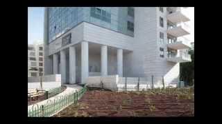 תקרה חיצונית מחולקת עם לוחות וילה בורד  מגדל בארי  תל אביב