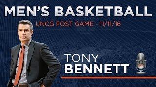 men s basketball uncg post game tony bennett