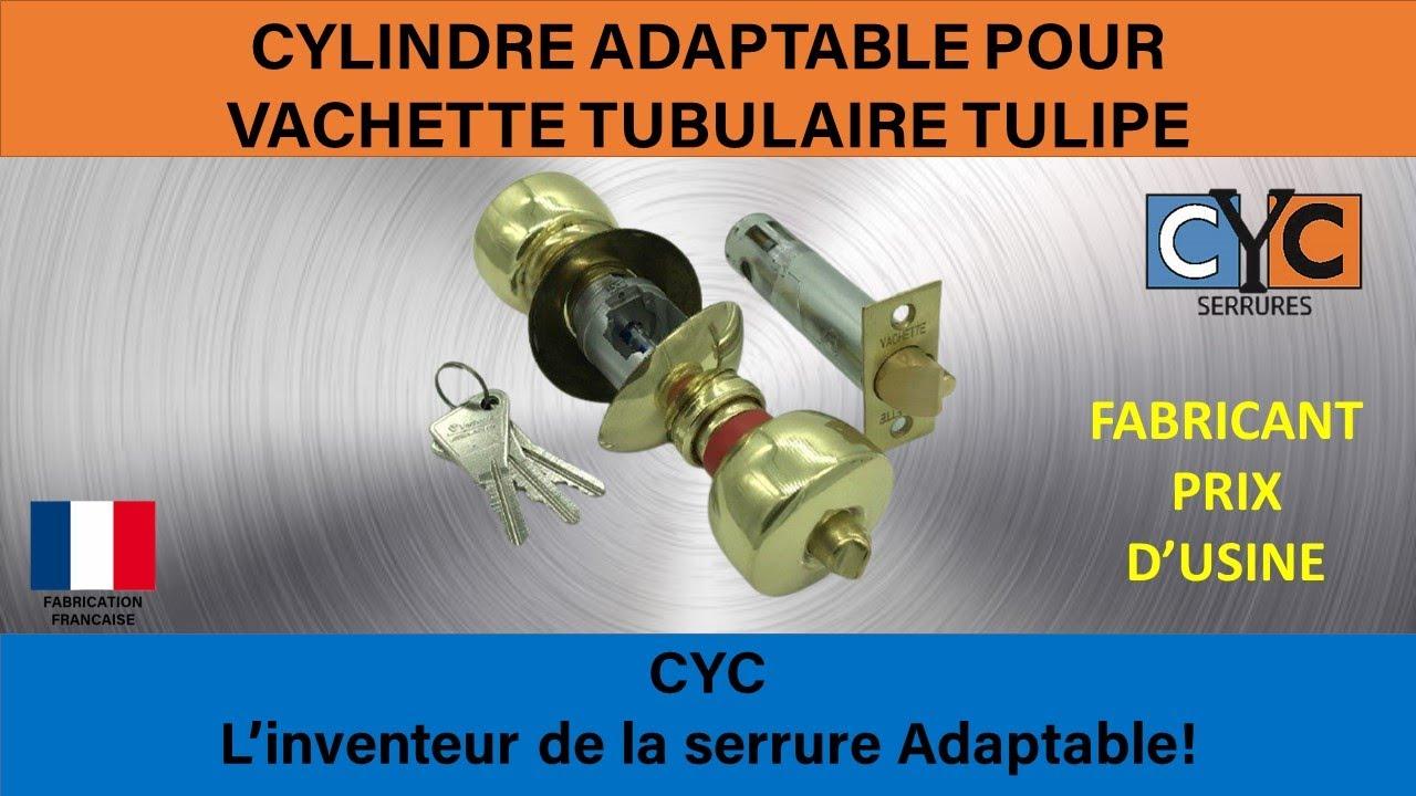 changement d\'un cylindre de serrure tulipe VACHETTE par serrure CYC ...