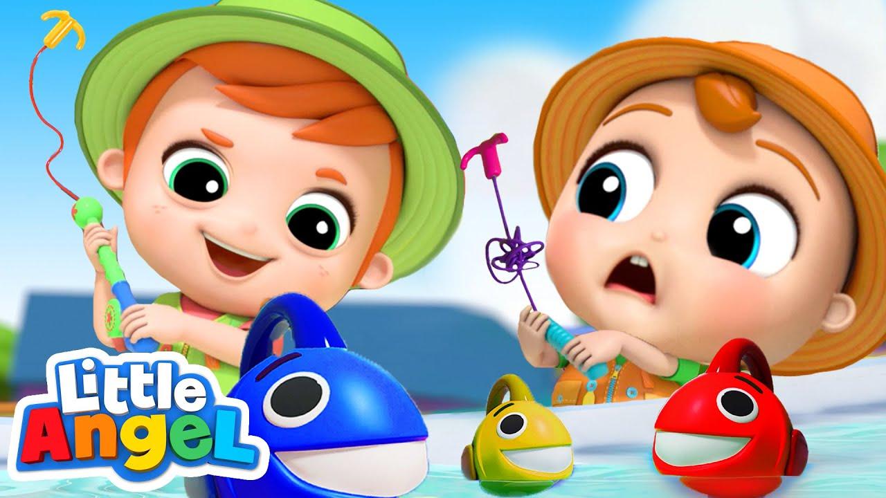 10 Little Fishies Song + More Kids Songs & Nursery Rhymes | Little Angel