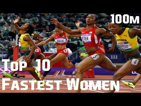 TOP 10 | Fastest Women | All-time | 100m | 2017 !