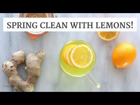 Spring Clean With Lemons! DIY Lemon Cleaner and DIY Lemon Detox Drink   Limoneira