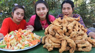 Chicken feet crispy with papaya salad recipe - Cooking skill