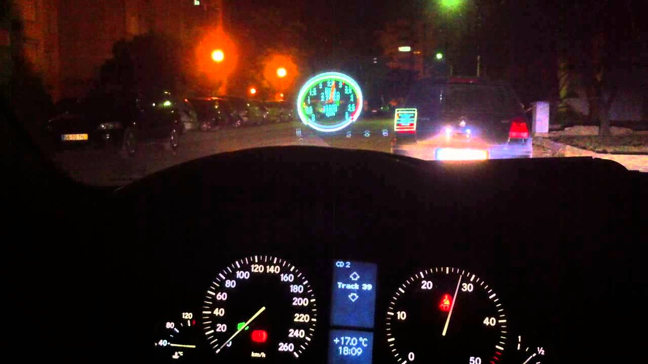 Carlsson cd22 hud heads up display mercedes youtube for Mercedes benz heads up display