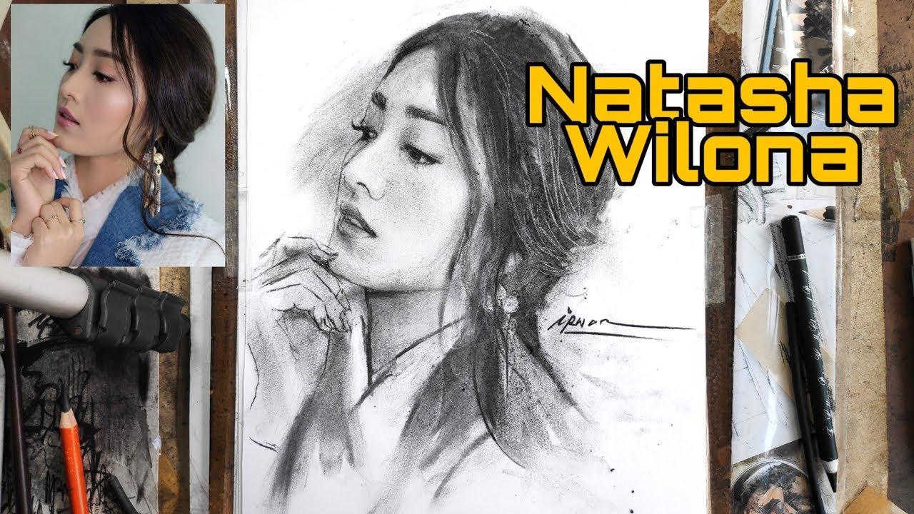 Download Keren Sketsa Wajah Natasha Wilona Menggunakan