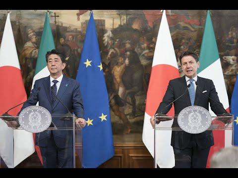 Dichiarazioni alla stampa del Presidente Conte con il Primo Ministro Shinzō Abe