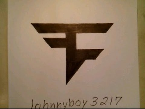 How To Draw Faze Clan Logo Sign Symbol Emblem Easy Step By Step