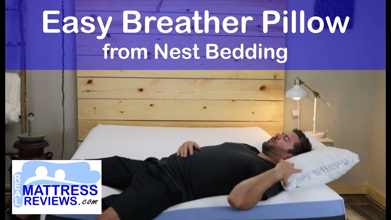 nest bedding easy breather pillow review fluffy shredded memory foam pillow nest bedding