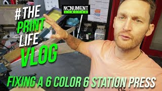 Фіксація 6 Колір 6 керівництво станції екран друку | футболка друк влог | Кем Earven
