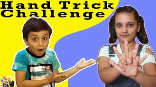 HAND TRICK CHALLENGE Kids Fun Bloopers Aayu and Pihu Show