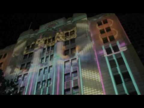 Fringe Parade Building Projection
