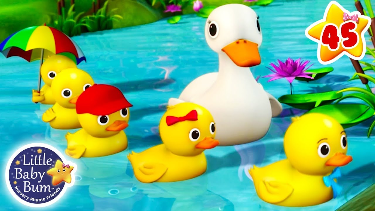 Five Little Ducks | + More Nursery Rhymes & Kids Songs | ABCs and 123s |  Little Baby Bum