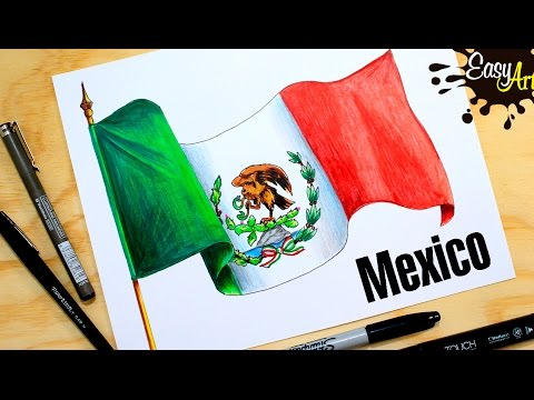 Cómo Dibujar La Bandera De México How To Draw The Flag Of Mexico