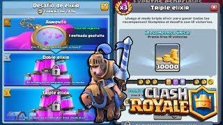 🔴 Desafió de Triple Elixir - Clash Royale - Multi Torneos, Ladder, Misiones y Más