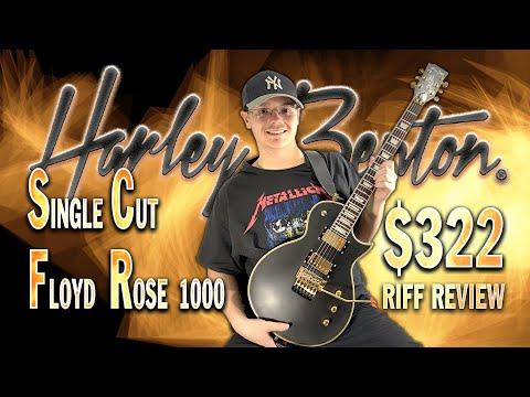 Best Cheap Guitar for Rock/Metal? Thomann's Harley Benton SC-Custom II FR Vintage Black Riff Review