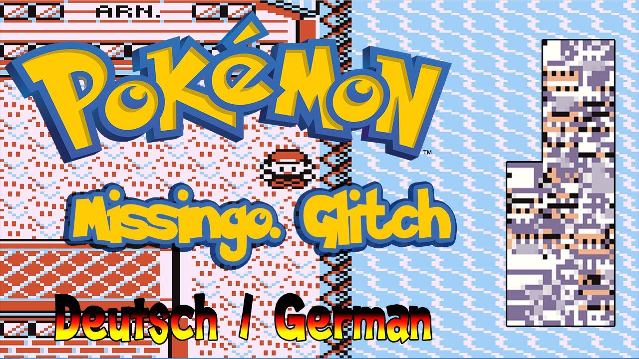 Pokemon Blaue Rote Missingno Glitch Deutschgerman