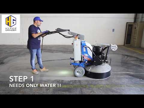 How to polish concrete floors in 3 steps - [fast video]
